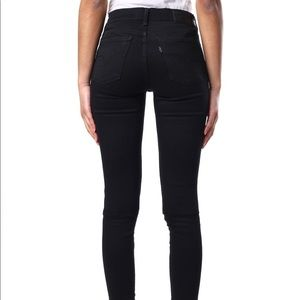Levi's 710 Super Skinny Jeans Black
